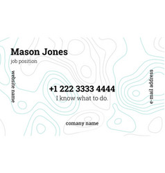 Mint and gray creative business card template vector
