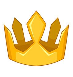King crown icon cartoon style vector
