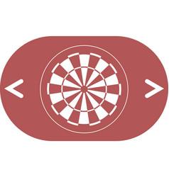 Dart board symbol icon vector