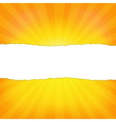 Sunburst background with paper and beams vector