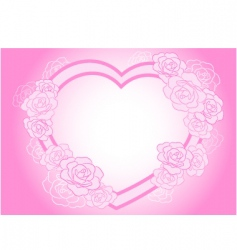 Rose heart frame vector