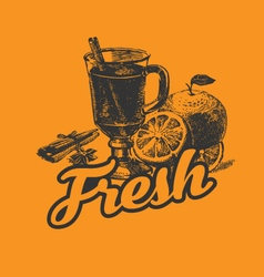 Fresh drink poster vector