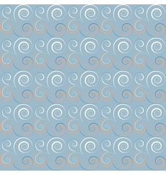 Seamless floral spiral pattern curled twirl vector