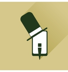 Flat web icon with long shadow mobile gentleman vector