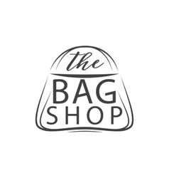 The bag shop Handdrawn Isolated on white vector image