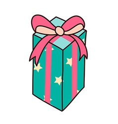 A box is placed vector image