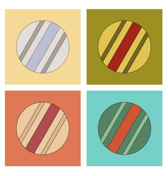 Assembly flat icons kids toy ball vector