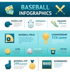 Baseball Infographics Set vector image vector image