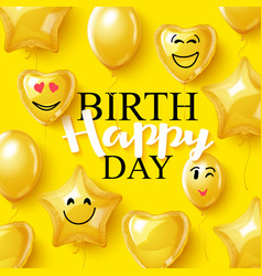 Birthday background smiling face helium vector