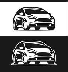 car icon silhouette vector image vector image