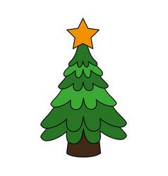 christmas tree icon image vector image