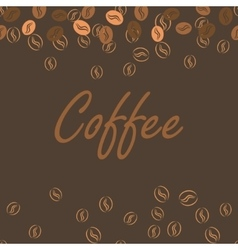 Coffee brown poster print for cards bar drink vector image
