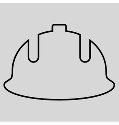 Construction Helmet Outline Icon vector image