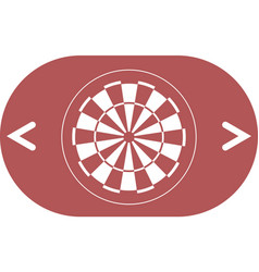 Dart board symbol icon vector