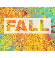 Fall Party Invitation Flyer Template vector image