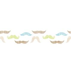 Fun silhouette mustaches horizontal border vector