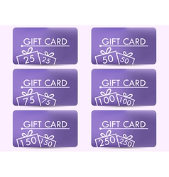 Gift card with a gift box realistic gift card vector