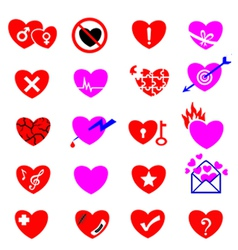 Heart icon concept vector