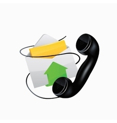 Icon e-mail and phone vector