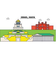 Israel haifa city skyline architecture vector