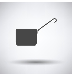 Kitchen pan icon vector image