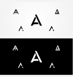Letter a great big logo typo design vector