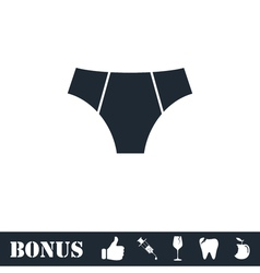 Male underpants icon flat vector image vector image
