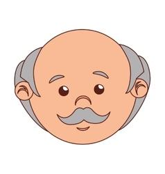Man cartoon old bald isolated vector