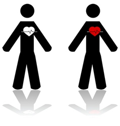 Man heartbeat vector image