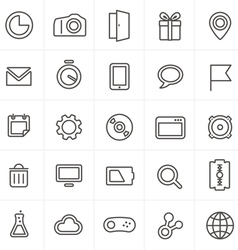 Modern web icons collection isolated on whit vector