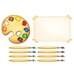 Painting equipment vector image