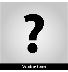 Question icon picture on grey background vector