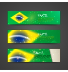 set of banners with watercolor effect in brazil vector image