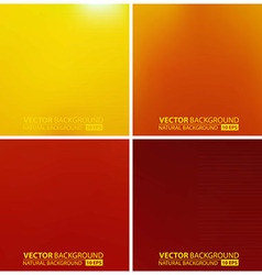 set of orange backgrounds vector image