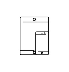 smartphone and tablet icon vector image