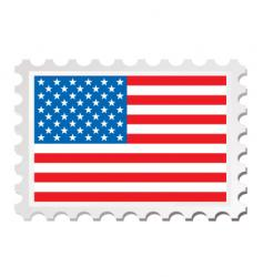 Us flag card vector