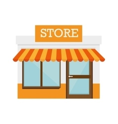Shop store door front building icon vector