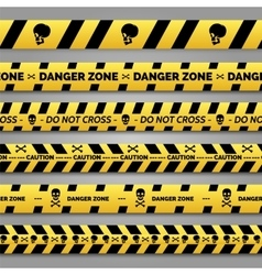 Danger tape set vector