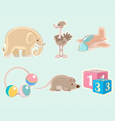Six toys set vector