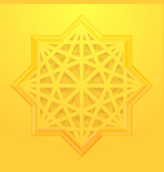 eight point star background vector image