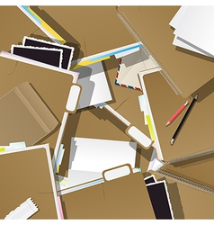 Folders pile collage vector