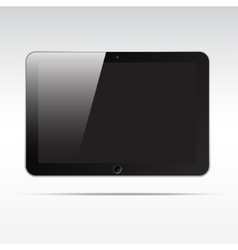 Realistic tablet isolated on light background vector