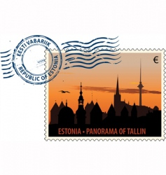 Postmark from estonia vector