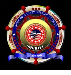 al 0648 sheriff vector image