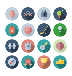 Flat Design Icons For Sport and Fitness vector image