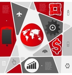 Business geometric infographic vector