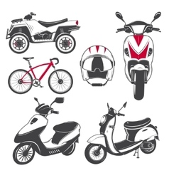 Rent sale and repair - bicycles mopeds and vector