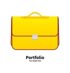 Yellow school bag vector