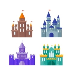 Ancient Castle Building Set vector image