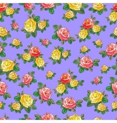 Beautiful Pattern with Roses vector image vector image